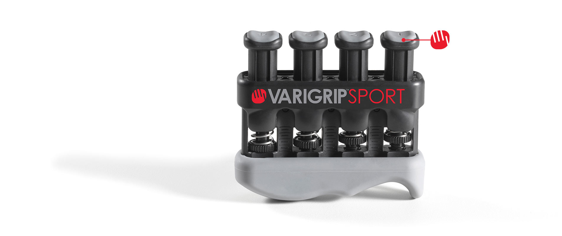 VariGrip Sport with pointer at a button